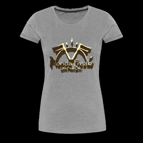 FLORIDA FREAKS 3D LOGO PRINT - Women's Premium T-Shirt