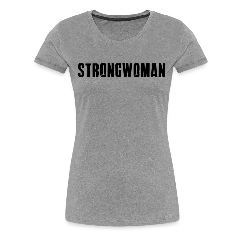strongwoman horiz - Women's Premium T-Shirt
