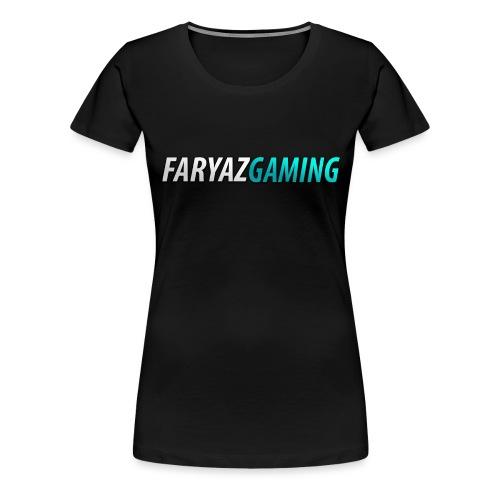 FaryazGaming Theme Text - Women's Premium T-Shirt