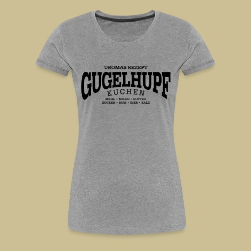 Gugelhupf (black) - Women's Premium T-Shirt