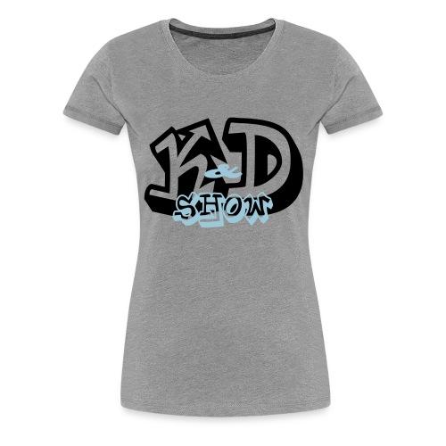 K&D Logo Black on Light Blue - Women's Premium T-Shirt
