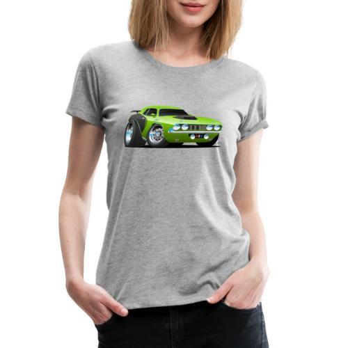 Classic Seventies American Muscle Car Cartoon - Women's Premium T-Shirt