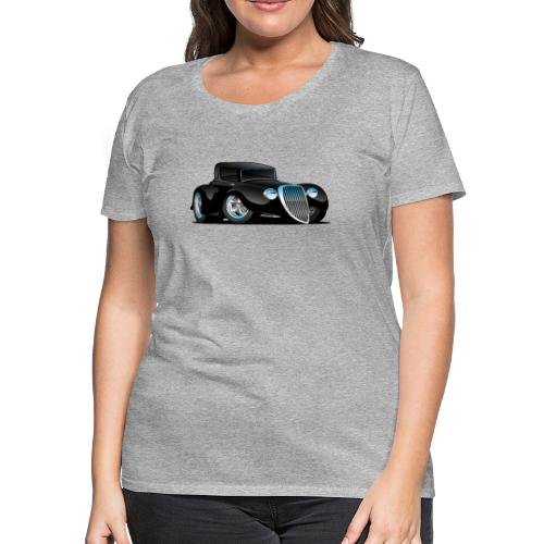 Black Hot Rod Classic Coupe Custom Car Cartoon - Women's Premium T-Shirt