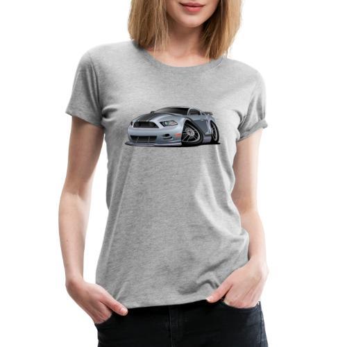 Modern American Muscle Car Cartoon Vector - Women's Premium T-Shirt