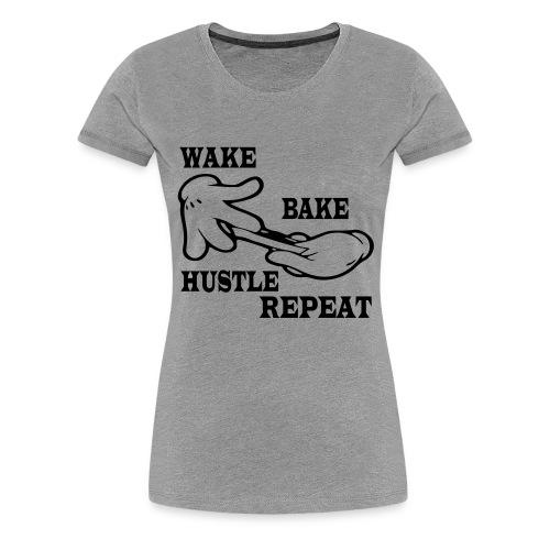 Wake bake hustle repeat - Women's Premium T-Shirt