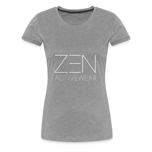 Zen Activewear white 2 - Women's Premium T-Shirt