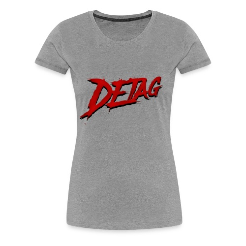 DETAG LOGO RED BLACK - Women's Premium T-Shirt