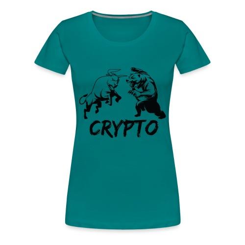 CryptoBattle Black - Women's Premium T-Shirt