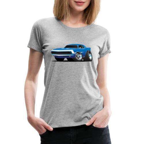 Classic Sixties Muscle Car Hot Rod Cartoon - Women's Premium T-Shirt