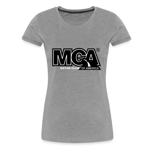 MCA Logo WBG Transparent BLACK TITLEfw fw png - Women's Premium T-Shirt