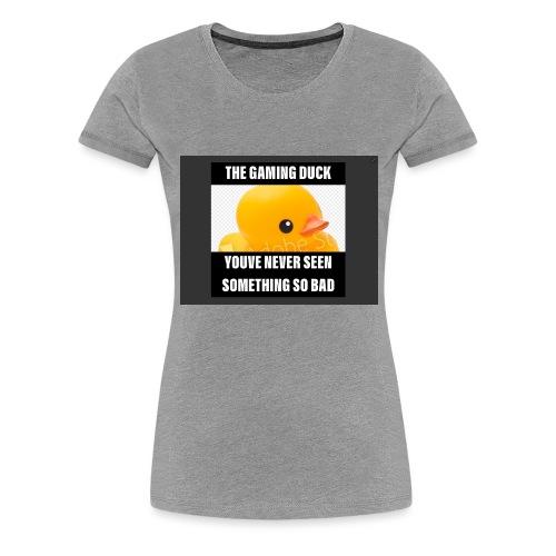 The Gaming Duck meme - Women's Premium T-Shirt