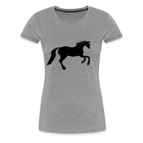 unicorn black - Women's Premium T-Shirt