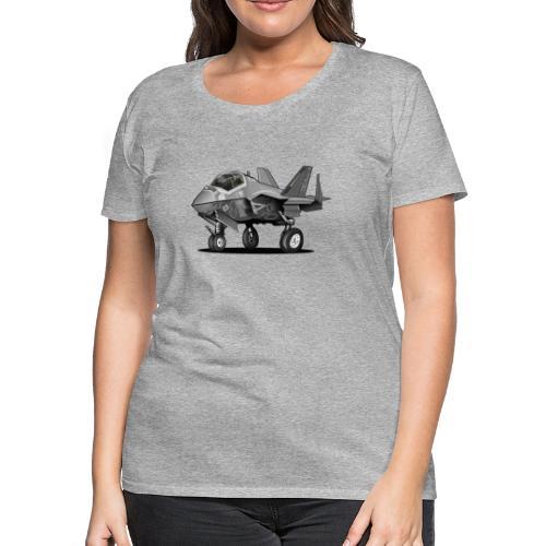F-35C Lightning II Joint Strike Fighter Il Cartoon - Women's Premium T-Shirt