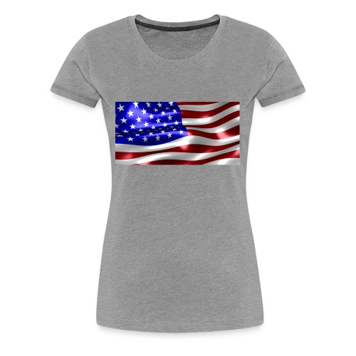 USA Flag - Women's Premium T-Shirt