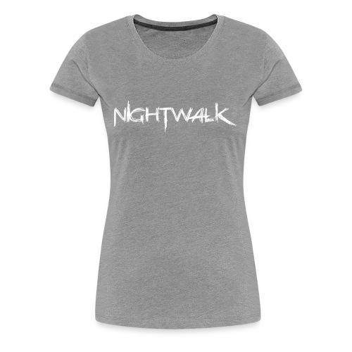 Nightwalk Logo White - Women's Premium T-Shirt