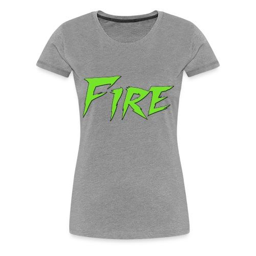 Fire Text - Women's Premium T-Shirt