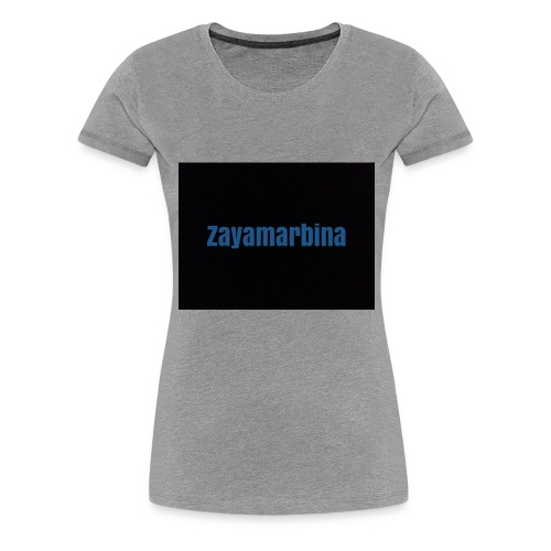 Zayamarbina bule and black t-shirt - Women's Premium T-Shirt