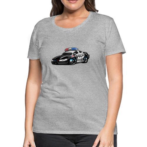 Police Muscle Car Cartoon - Women's Premium T-Shirt