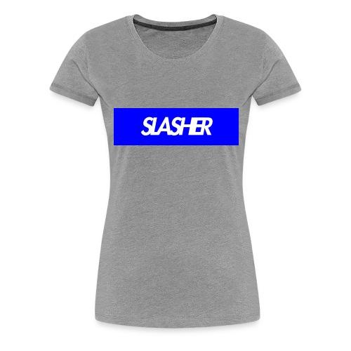 Slasher Supreme Box Logo V2 - Women's Premium T-Shirt