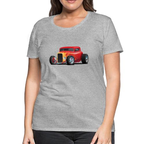 Classic Bold Red Custom Street Rod - Women's Premium T-Shirt