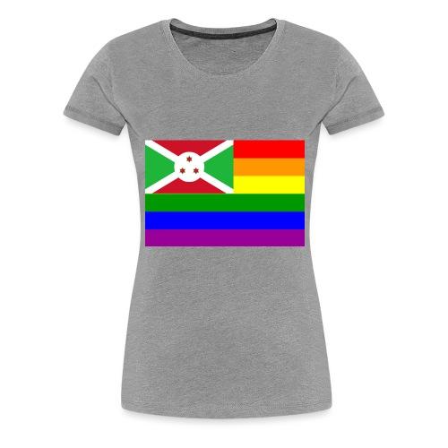burundirainbowflag - Women's Premium T-Shirt