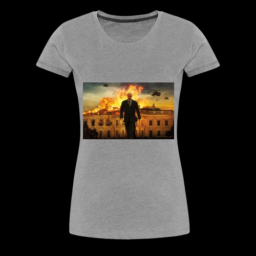 putin destroys white house - Women's Premium T-Shirt