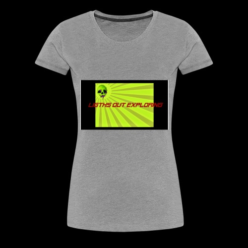 i love ligths out exploring - Women's Premium T-Shirt