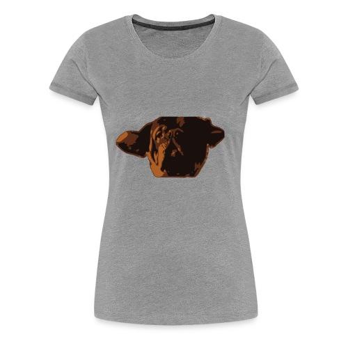 French Mastiff Hooch Headshot - Women's Premium T-Shirt