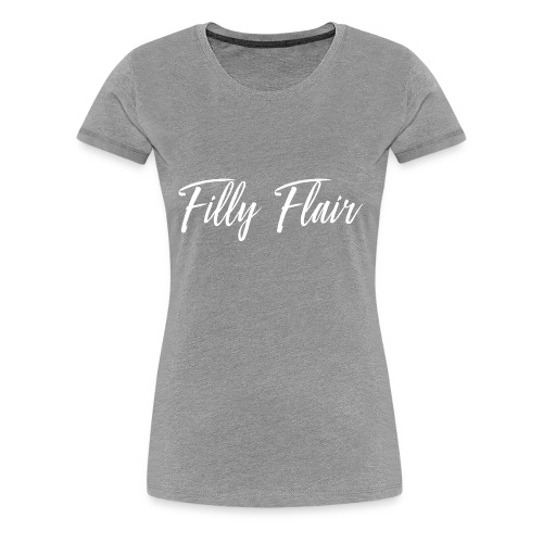 fillyflair white logo - Women's Premium T-Shirt
