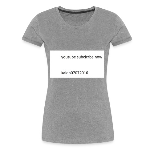 kaleb - Women's Premium T-Shirt