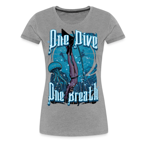 One Dive One Breath Freediving - Women's Premium T-Shirt
