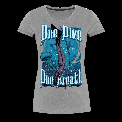 One Dive One Breath Freediving - Women's Premium T-Shirt