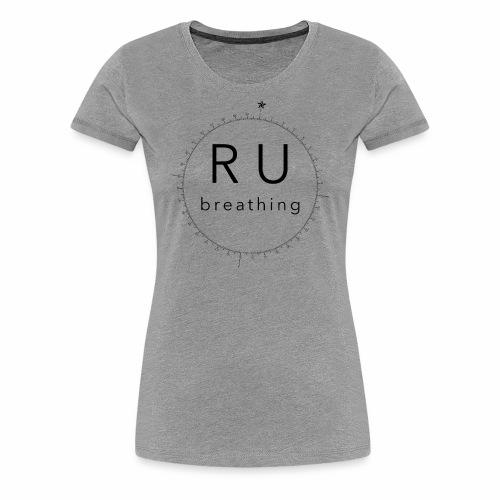 ru-breathing compass rose black - Women's Premium T-Shirt