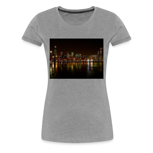 chicago skyline - Women's Premium T-Shirt