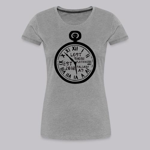 ░▒▓█ 𝐓 𝐈 𝐌 𝐄 █▓▒░ - Women's Premium T-Shirt
