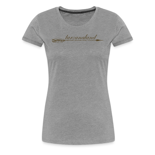 tarzanaland logo custom brown design - Women's Premium T-Shirt