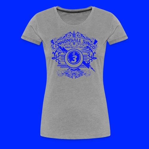 Vintage Cannonball Bingo Crest Blue - Women's Premium T-Shirt