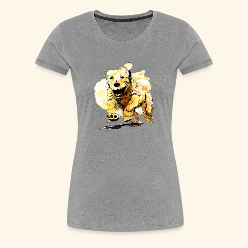 oil dog - Women's Premium T-Shirt