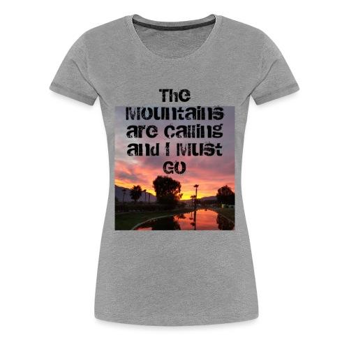 mountains - Women's Premium T-Shirt