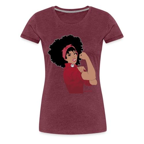 GlobalCouture WeCanDoIt RED Girl RGB png - Women's Premium T-Shirt