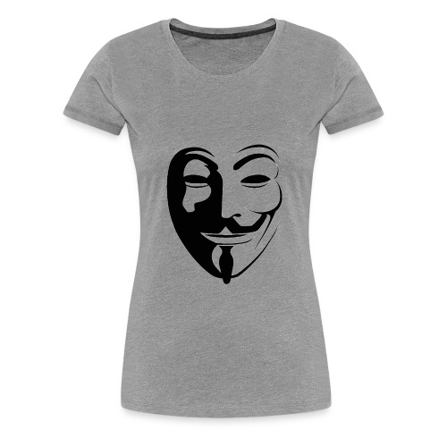 Anonymous Round Face gif - Women's Premium T-Shirt