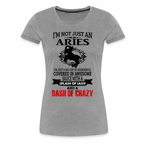 06 not just an aries black - Women's Premium T-Shirt