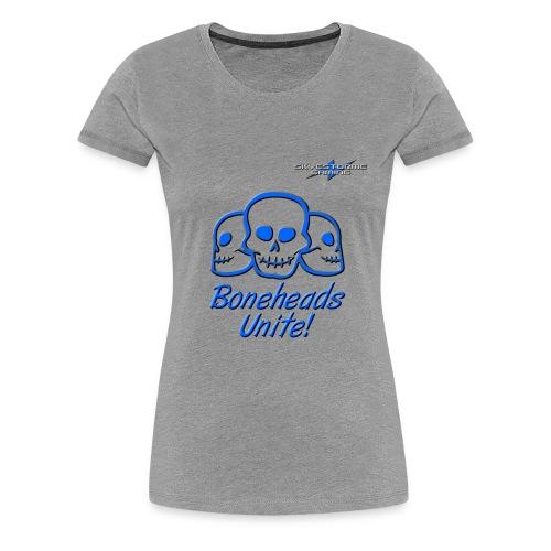 Boneheads Unite Blue 800ppi png - Women's Premium T-Shirt