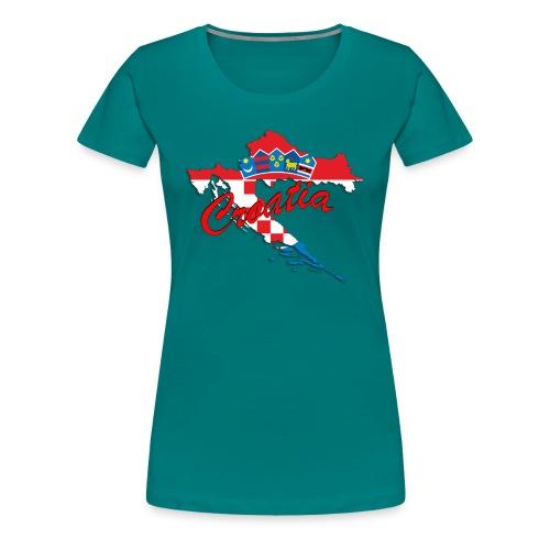 Croatia Football Team Colours T-Shirt Treasure Des - Women's Premium T-Shirt