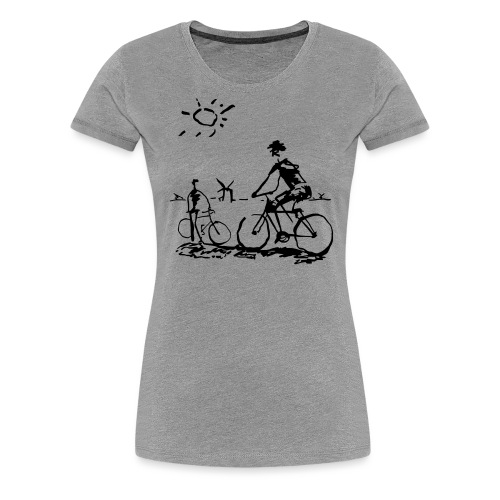 Bicycle Bicycling Picasso - Women's Premium T-Shirt