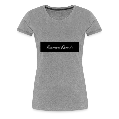Basement Records - Women's Premium T-Shirt