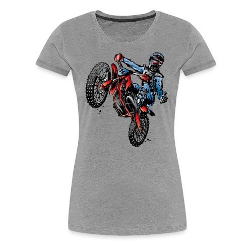 Motocross Dirt Bike Stunt Rider - Women's Premium T-Shirt