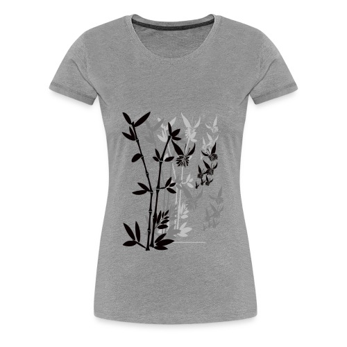 Butterflies n Bamboo-tran - Women's Premium T-Shirt