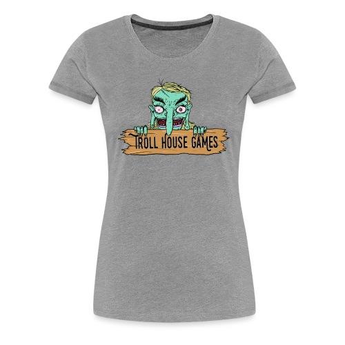 Troll House Games Cartoon Logo - Women's Premium T-Shirt