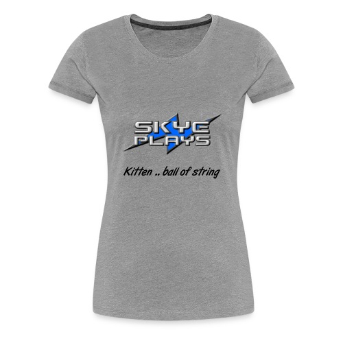 Skye Plays KBOS Black 800ppi png - Women's Premium T-Shirt